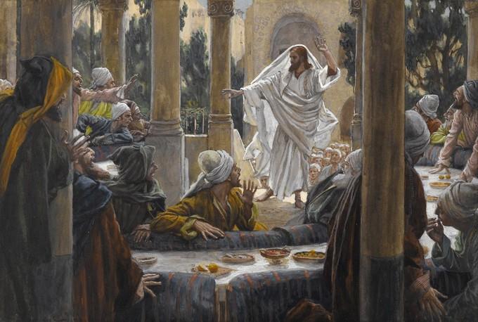 Imprécations contre les pharisiens - James Tissot