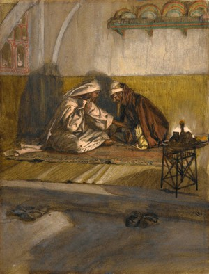 Razgovor između Isusa i Nikodema - James Tissot