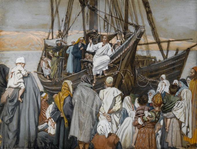 Isus propovijeda iz broda - James Tissot