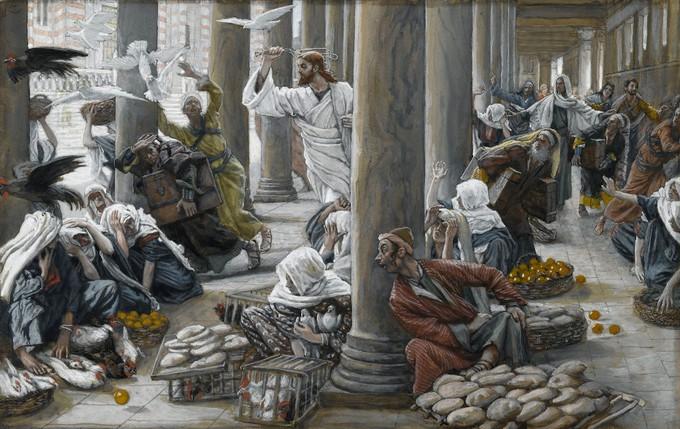 Istjerivanje prodavača iz Hrama - James Tissot