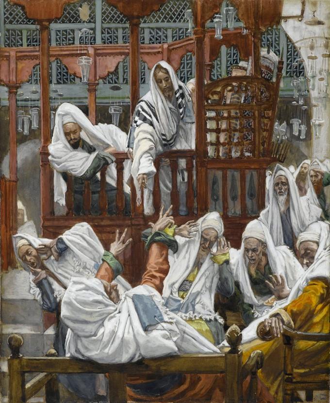 Opsjednut čovjek u sinagogi - James Tissot
